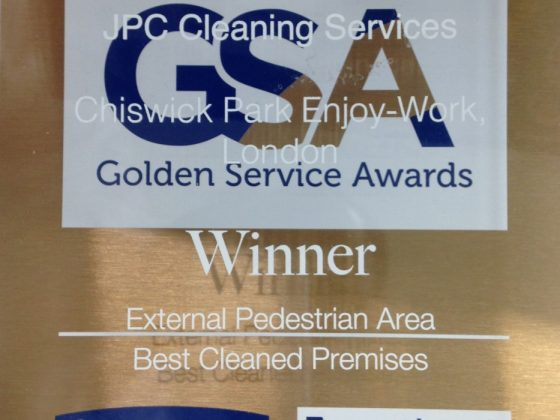 JPC Cleaning Win Golden Service Award