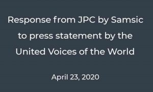 Response from JPC by Samsic to press statement by the United Voices of the World